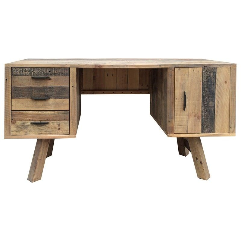 Wheaton Solid Recycled Pine Timber 150cm Desk