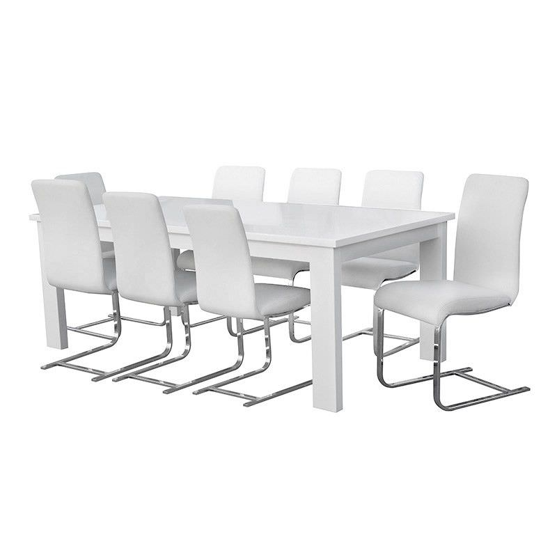 Cooper High Gloss 180cm Dining Table (Table Only) - White