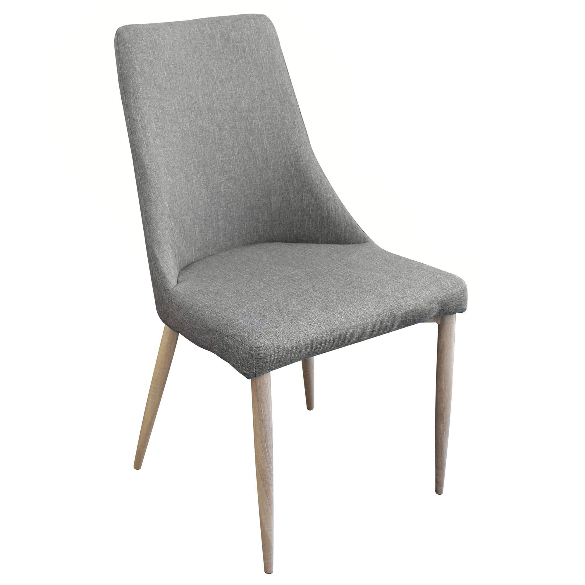 Kingsley Fabric Dining Chair, Grey / Natural