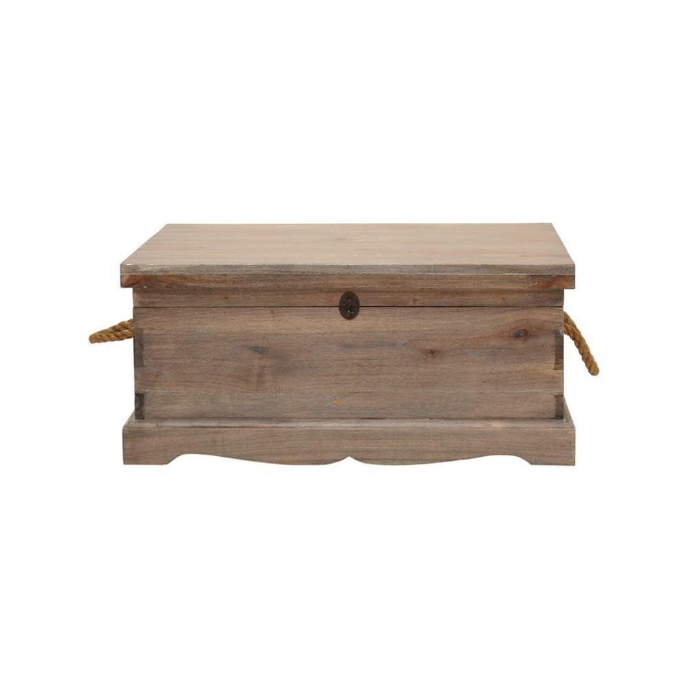 Larajasse Medium Hand Crafted Mahogany Blanket Box, Weathered Oak