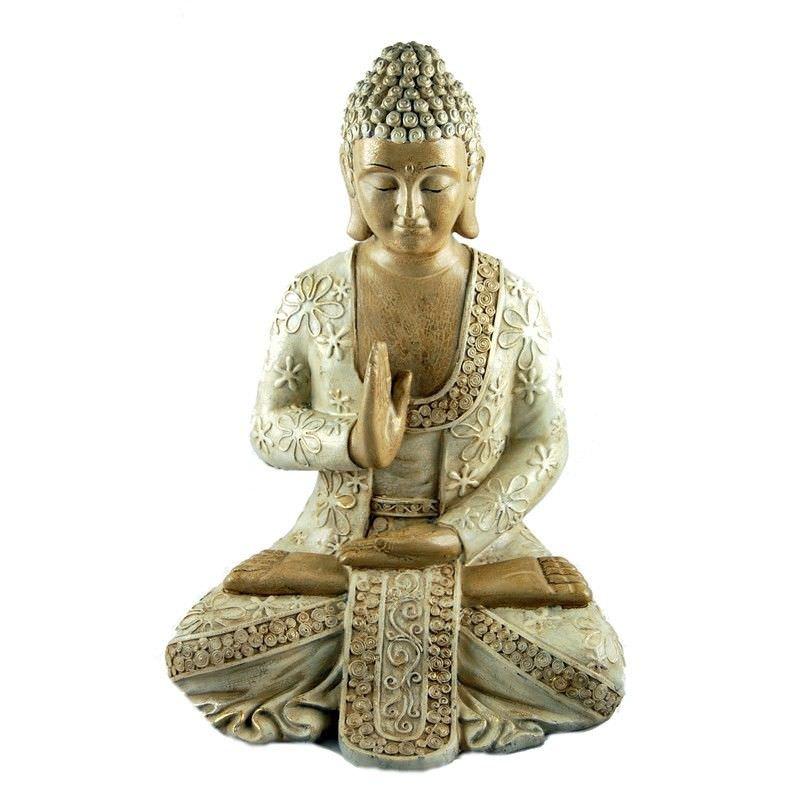 30.5cm White sitting Buddha