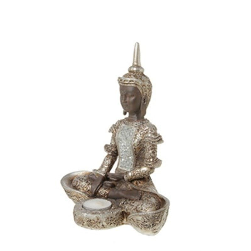 24cm Thai Buddha with mosaic vest and tealight