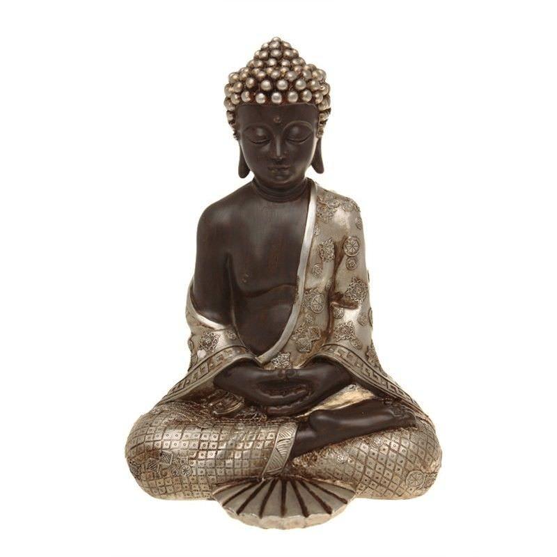 27.5cm Sitting Thai Silver Buddha