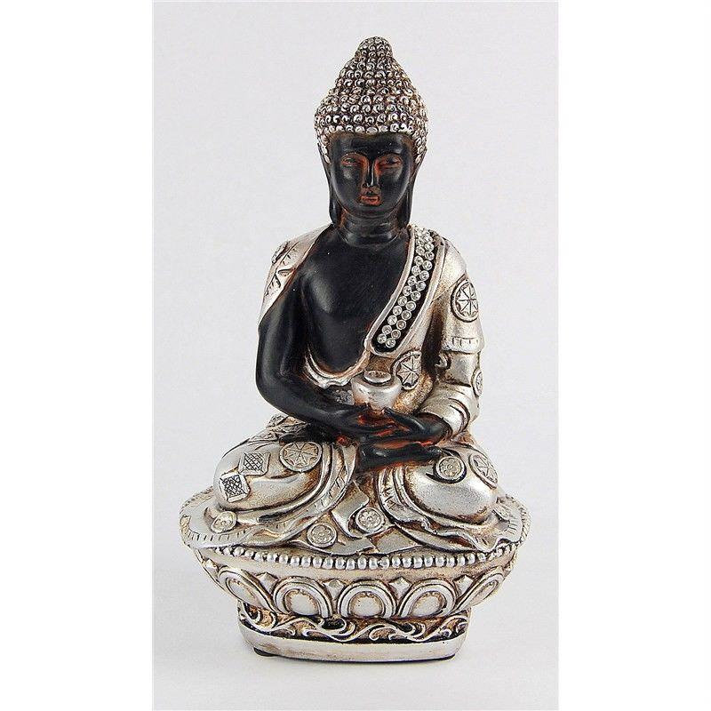 19cm Buddha sitting on cushion