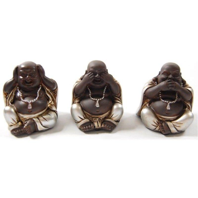 S/3 6.5cm mini Buddhas