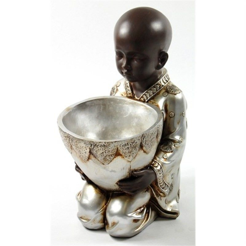 35cm Young Buddhist Monk with pot