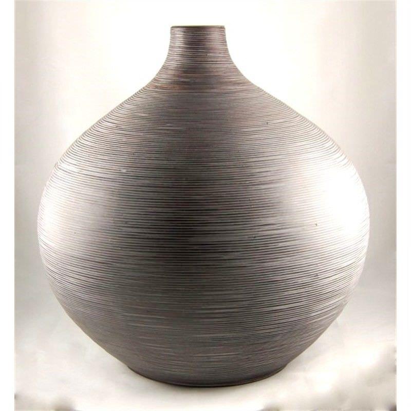 60cm Bulbous Bamboo Vase