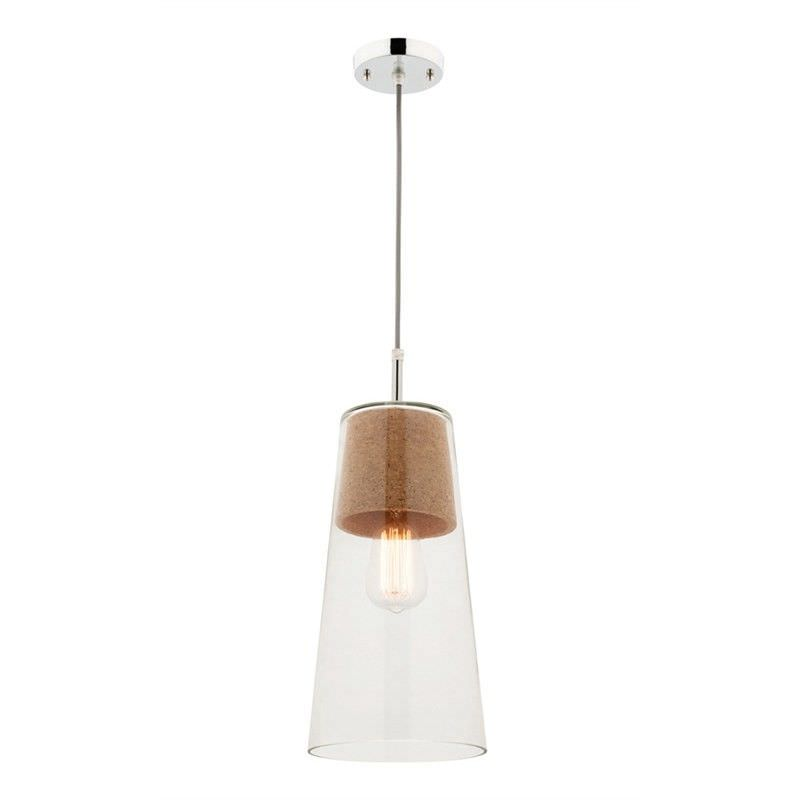 Cameron Glass and Cork Pendant Light