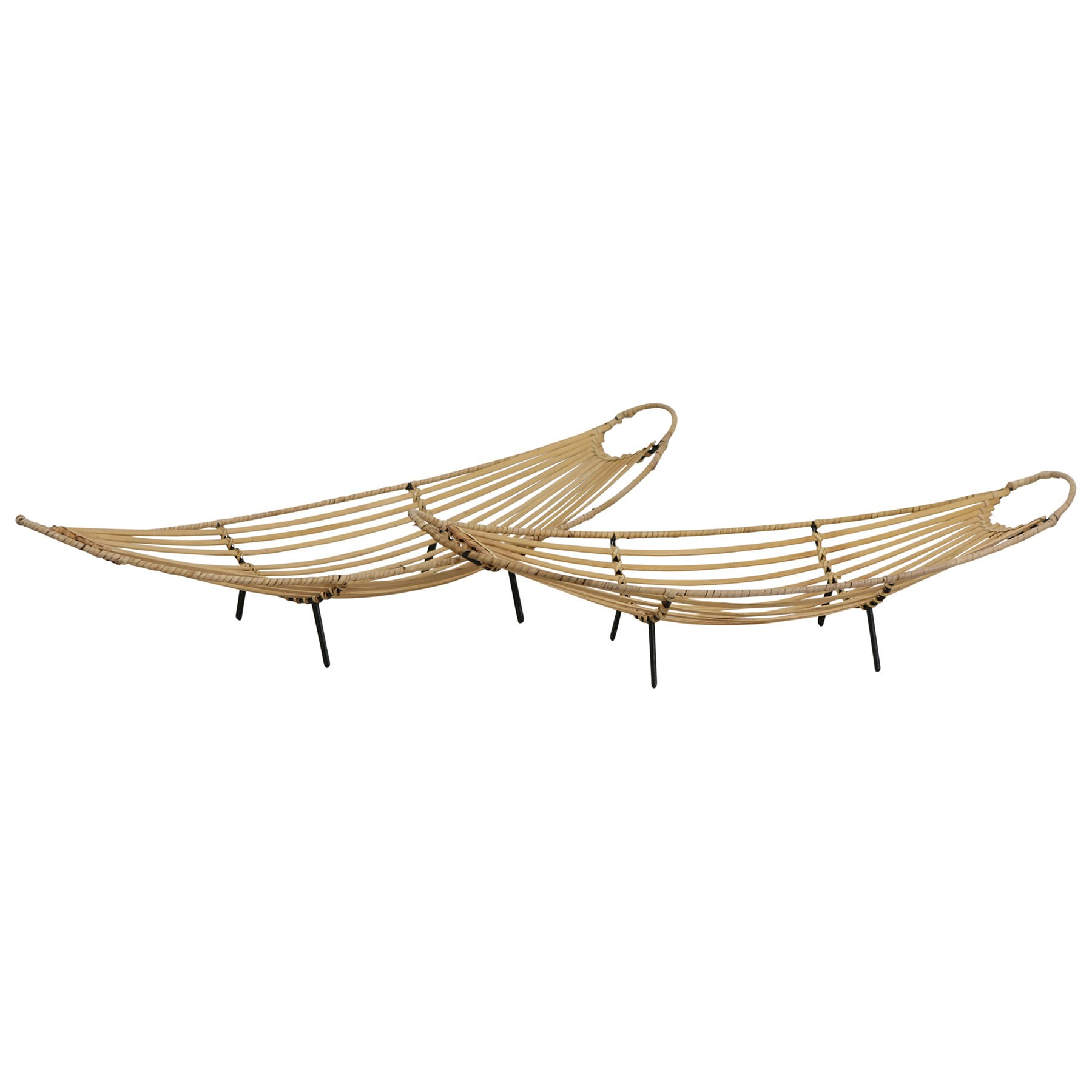 Osborn 2 Bamboo Rattan Tray Set