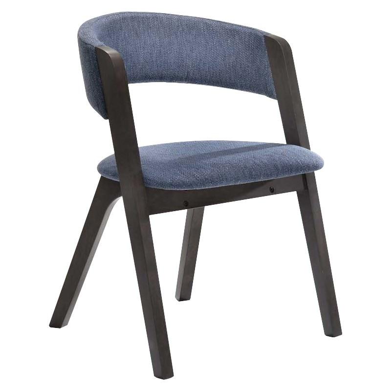 Alessa Fabric & Oak Dining Chair