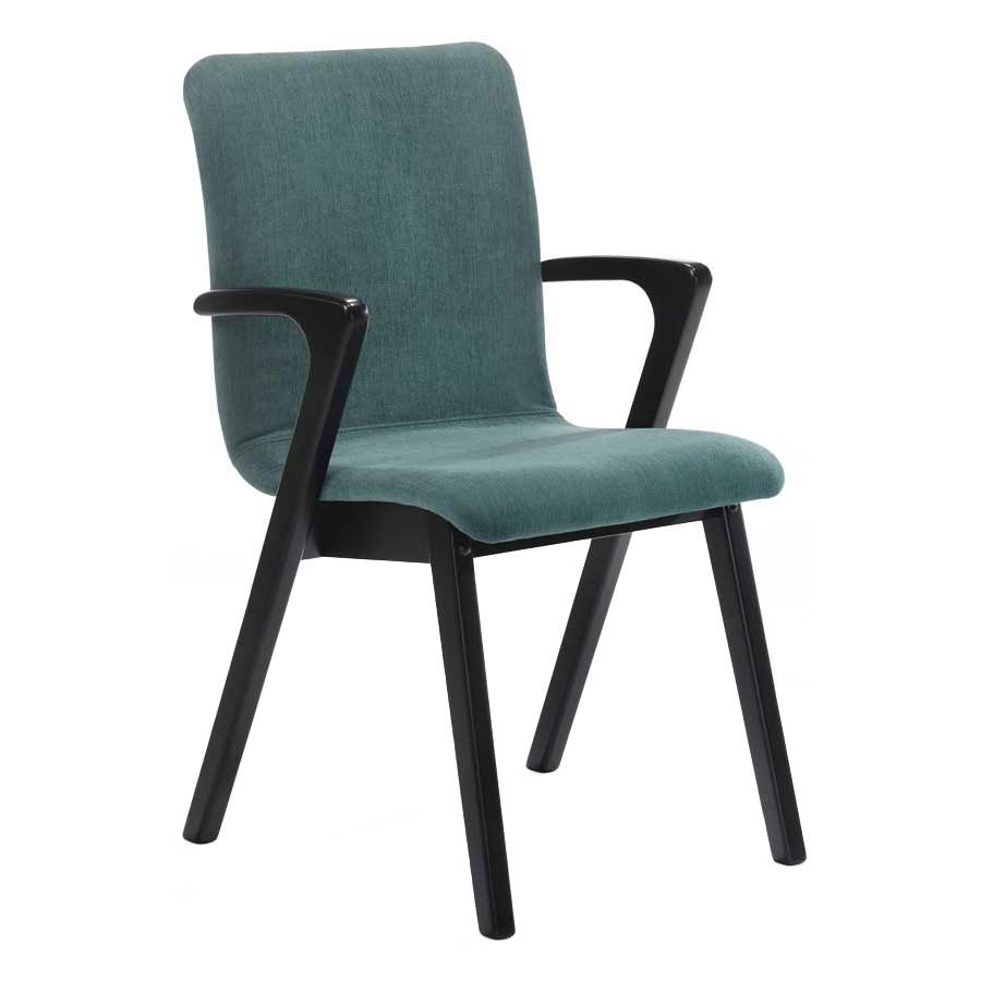 Fleur Commercial Grade Fabirc & Timber Dining Chair