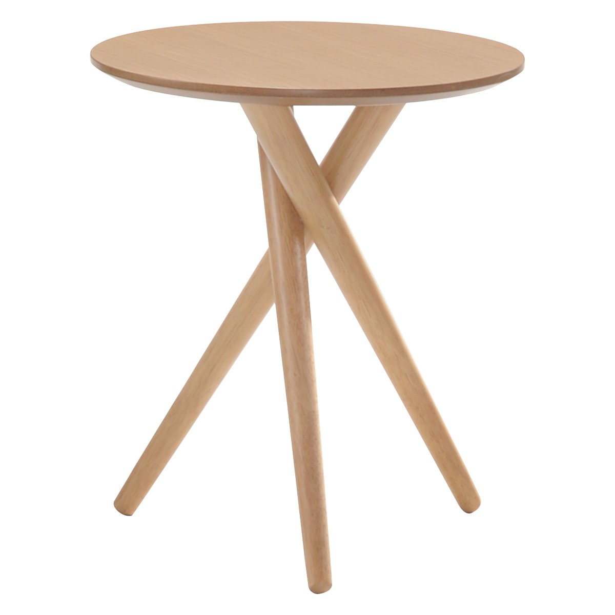 Bodie Wooden Round Side Table, Natural