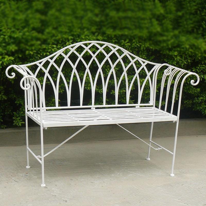Lavinia Iron Garden Bench, 128cm