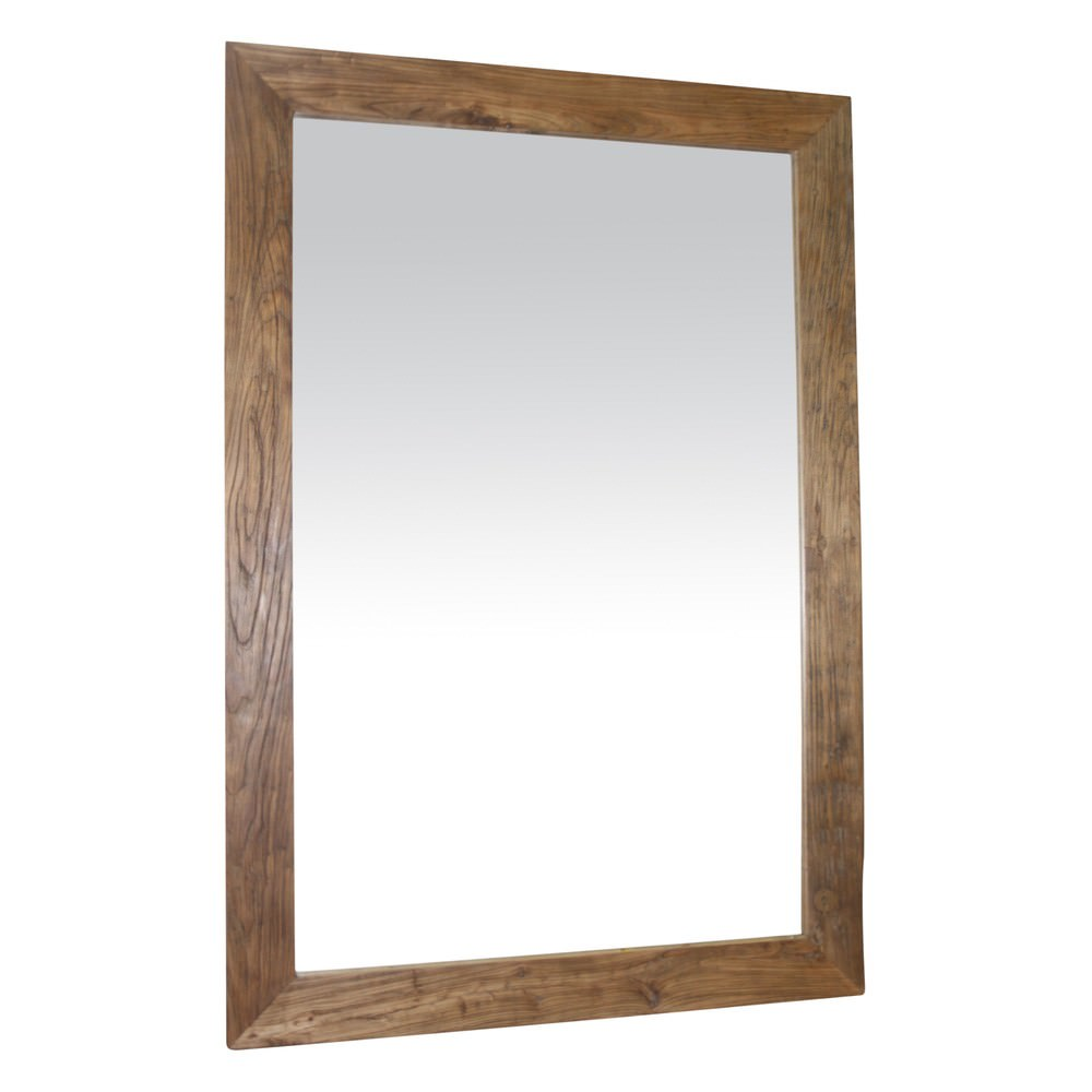 Reilly Recycled Elm Timber Frame Wall Mirror, 175cm