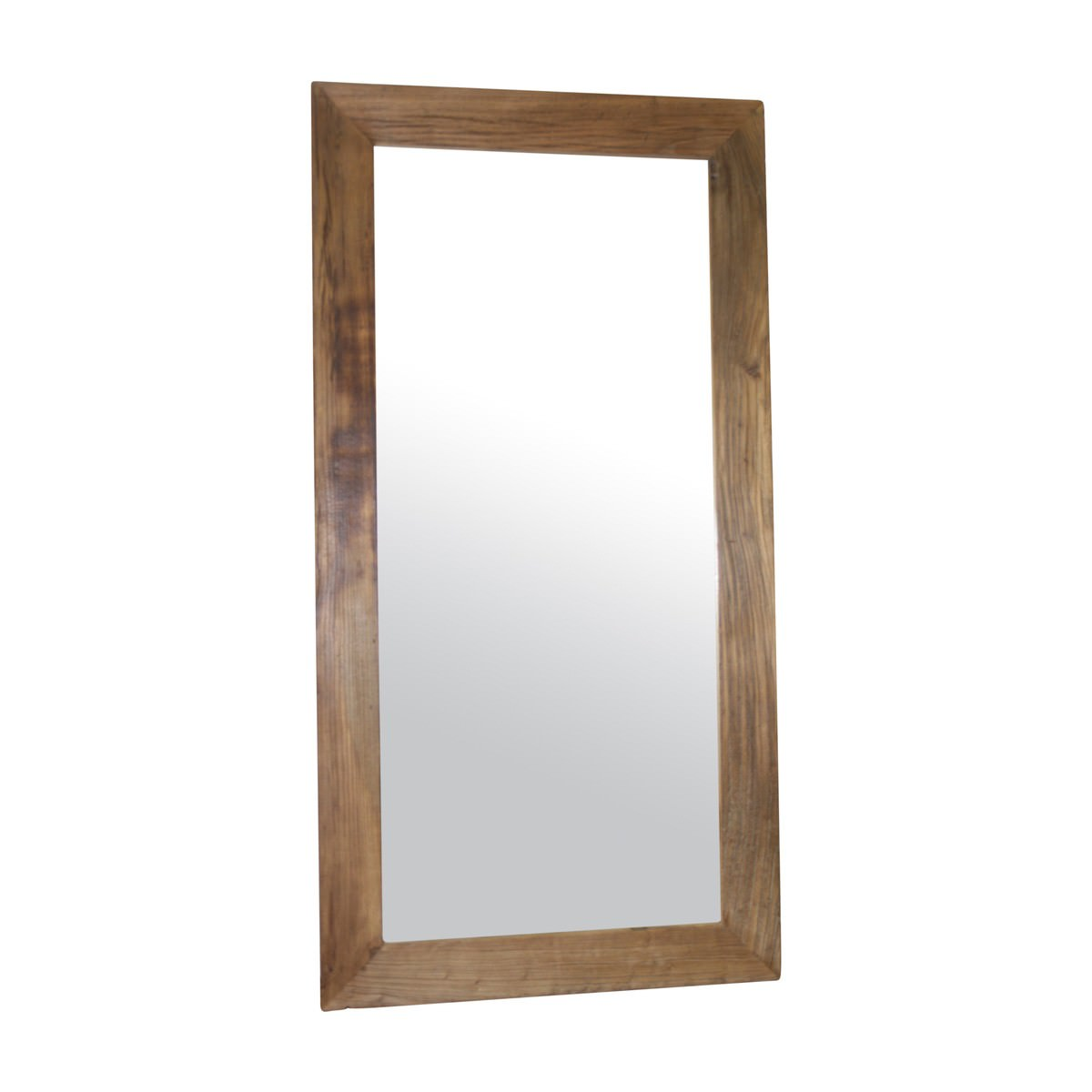 Marast Recycled Elm Timber Frame Slim Wall Mirror, 175cm