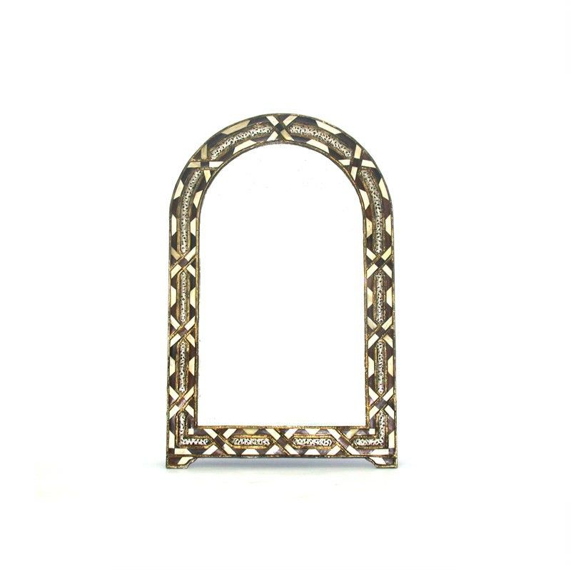 Traditional Moroccan Camel Bone and Ebony wood Mirror