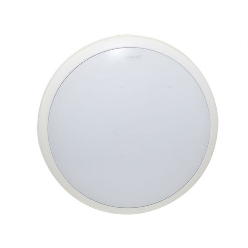 Martec Lunar 30cm 38W Warm White Dimmable LED Oyster Light - White (MLLO3038WD)