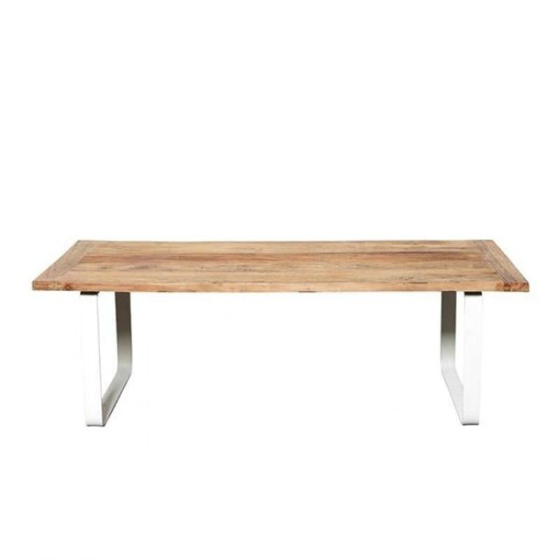 Lipton Elm Timber and Metal 133cm Coffee Table