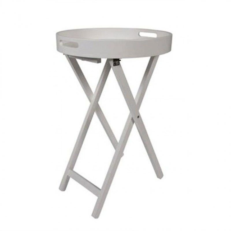 Mossman Tray Top Round Side Table