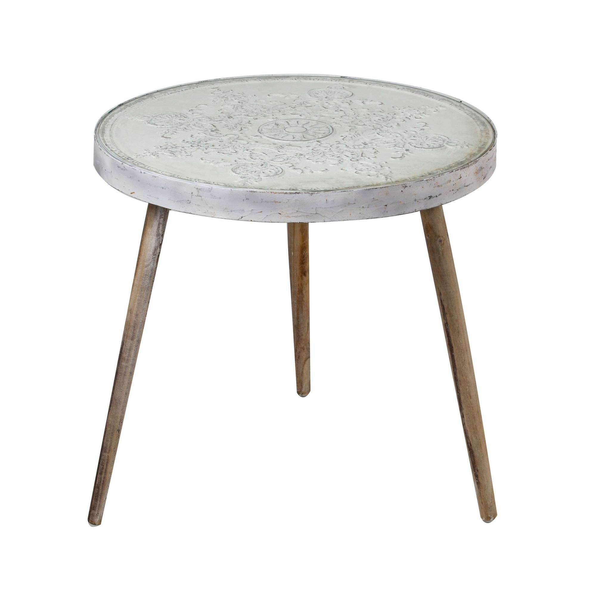Victor Handmade Wooden Round Side Table