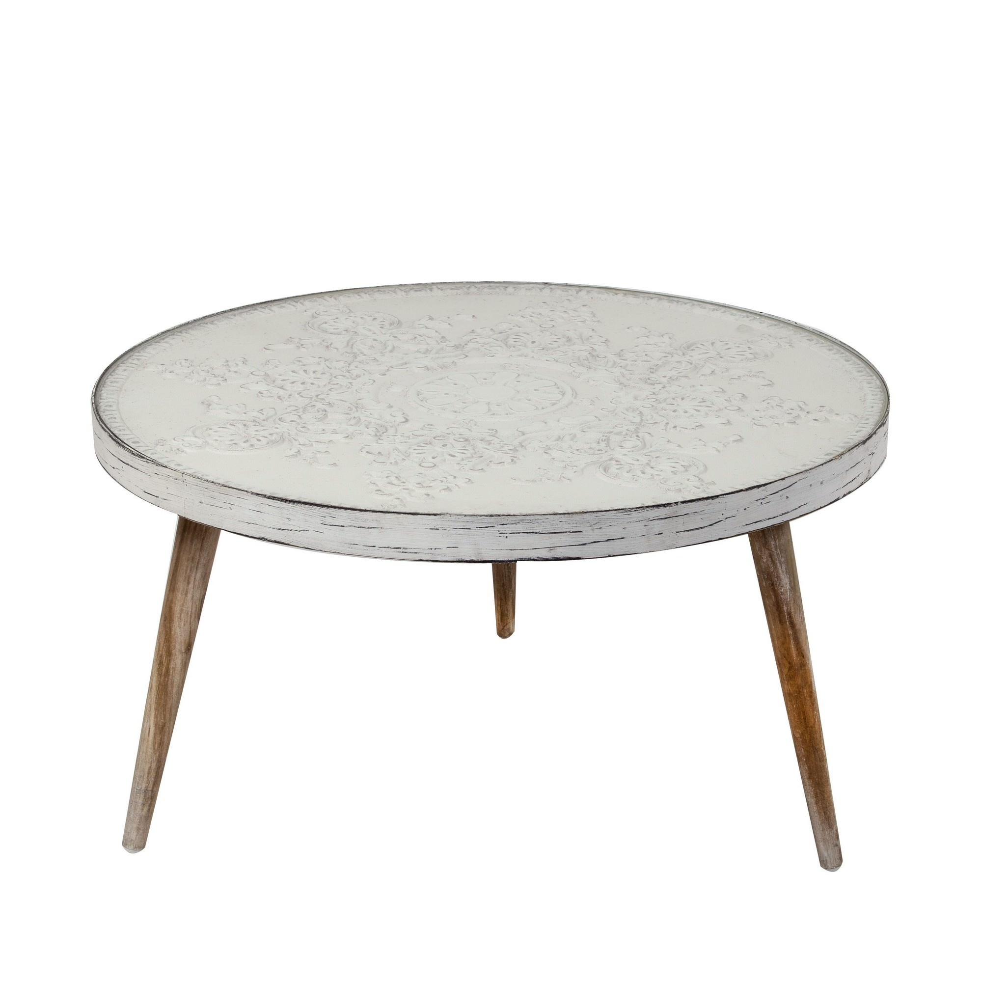 Victor Handmade Wooden Round Coffee Table, 80cm