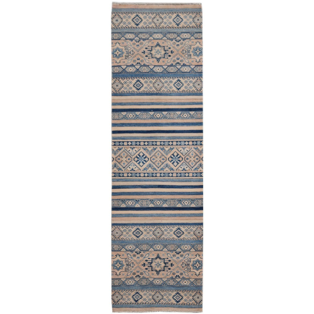 One of A Kind Kajetan Hand Knotted Wool Sultan Runner Rug, 296x79cm