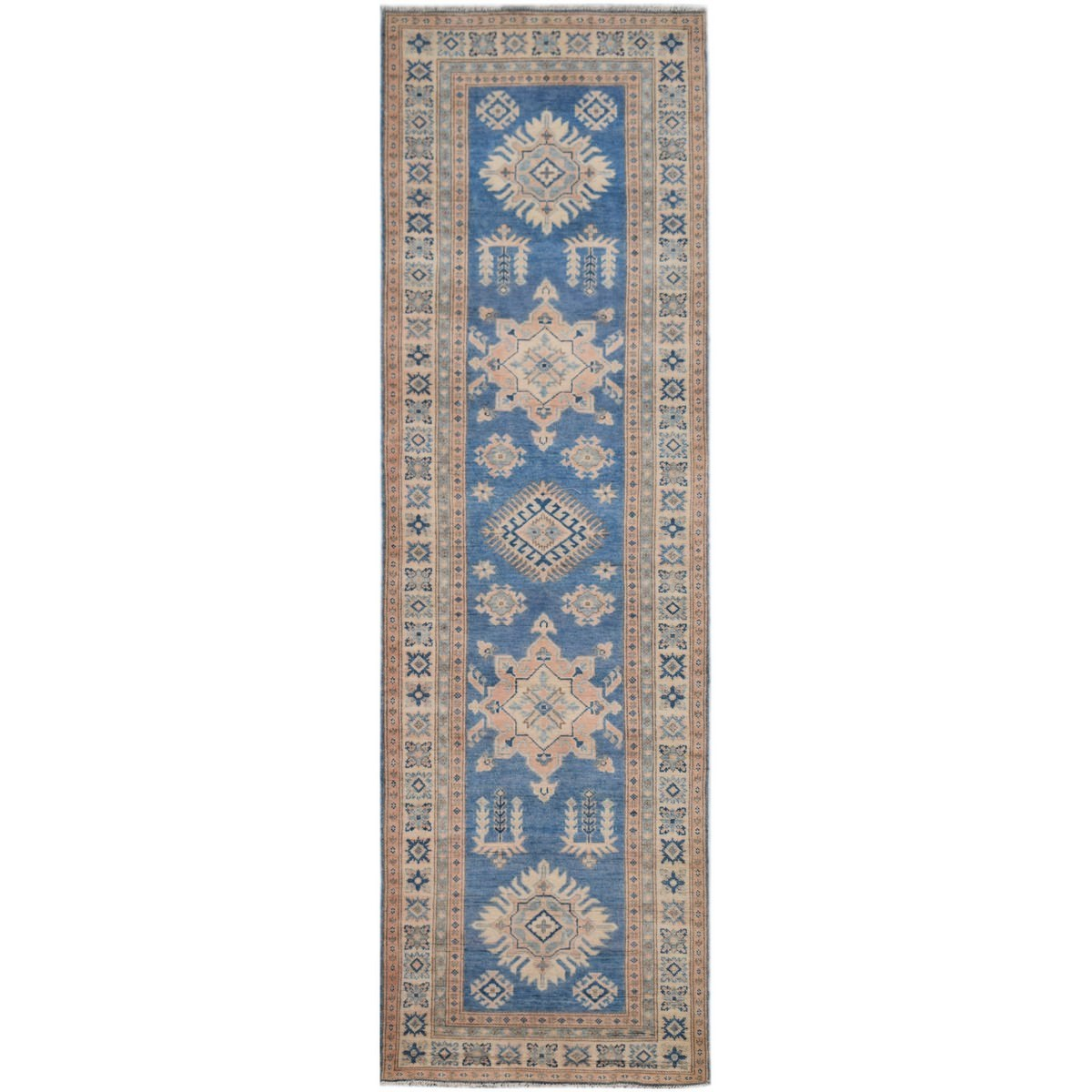 One of A Kind Shazia Hand Knotted Wool Sultan Runner Rug, 289x76cm