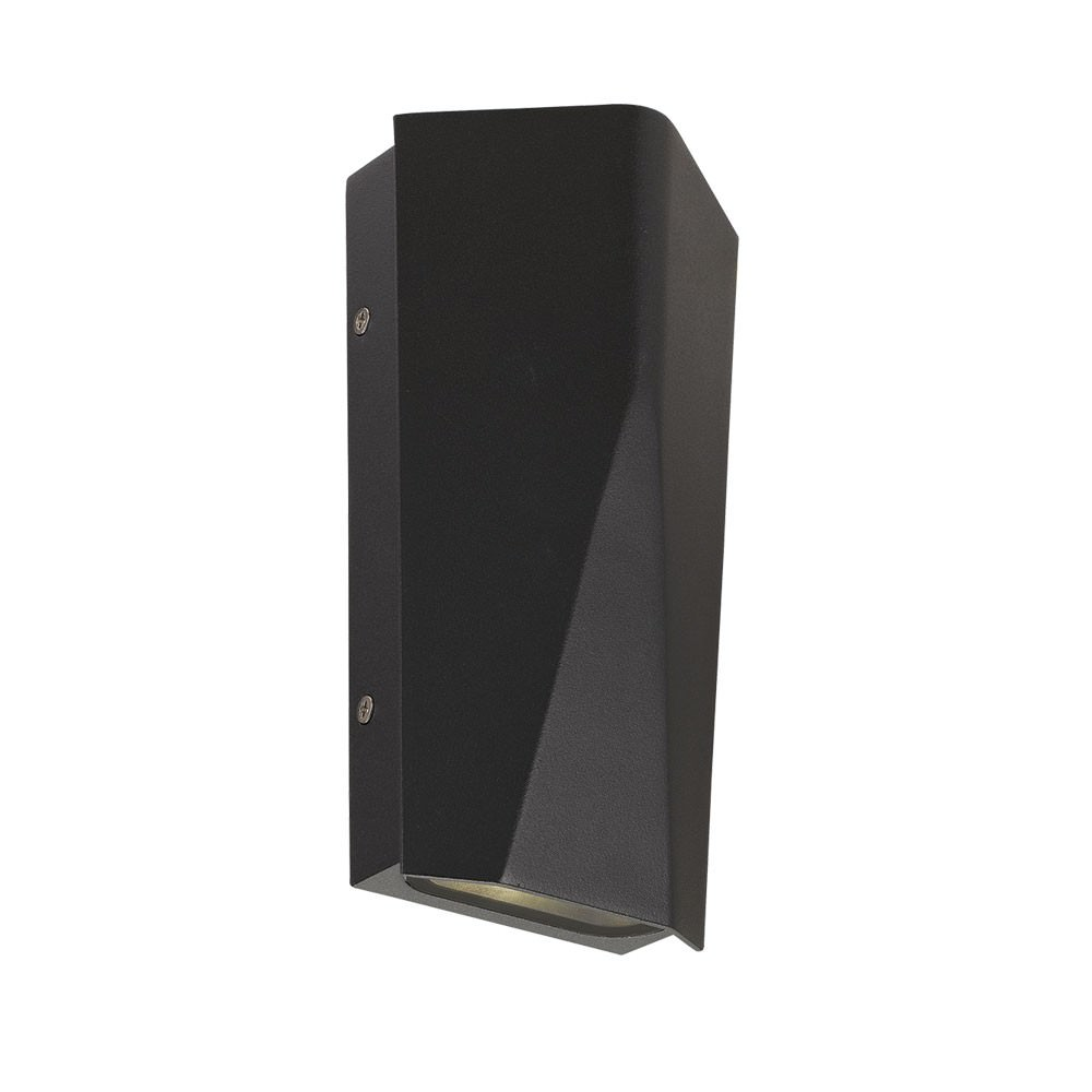 Monza IP54 Exterior LED Up/Down Wall Light, Black