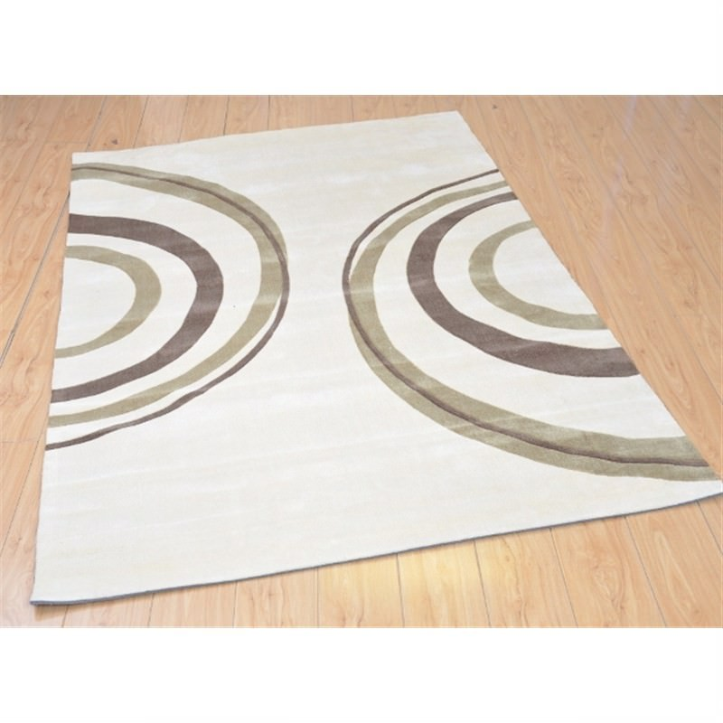 Mono Cycle Rug in Cream 150 x 210cm