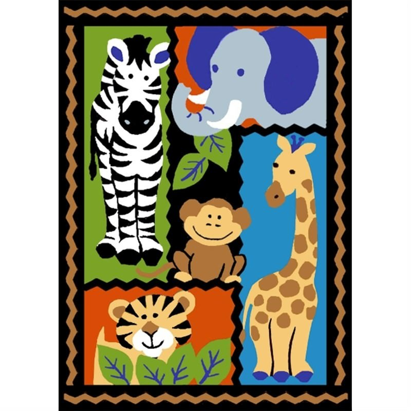 Mono Jungle Friends Rug in Multi 150 x 210cm