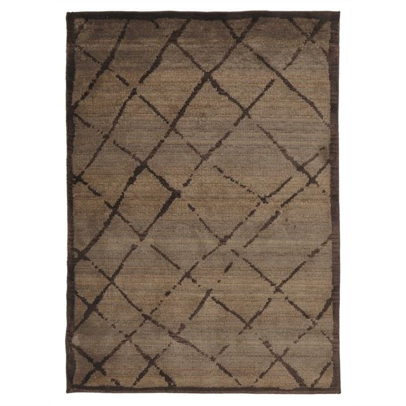 Egyptian Made Moroccan Rustic Design Rug in Chocolate - 230x160cm