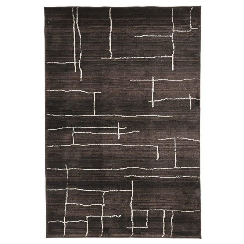 Egyptian Made Moroccan Paved Design Rug in Chocolate - 230x160cm