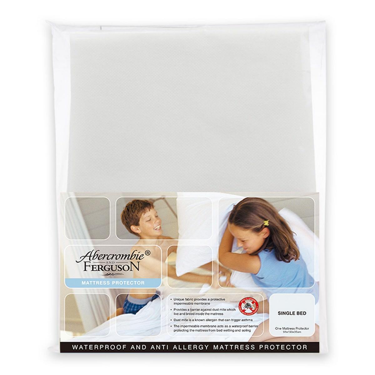 Abercrombie & Ferguson Waterproof Anti-Allergy Microfibre Mattress Protector, Double