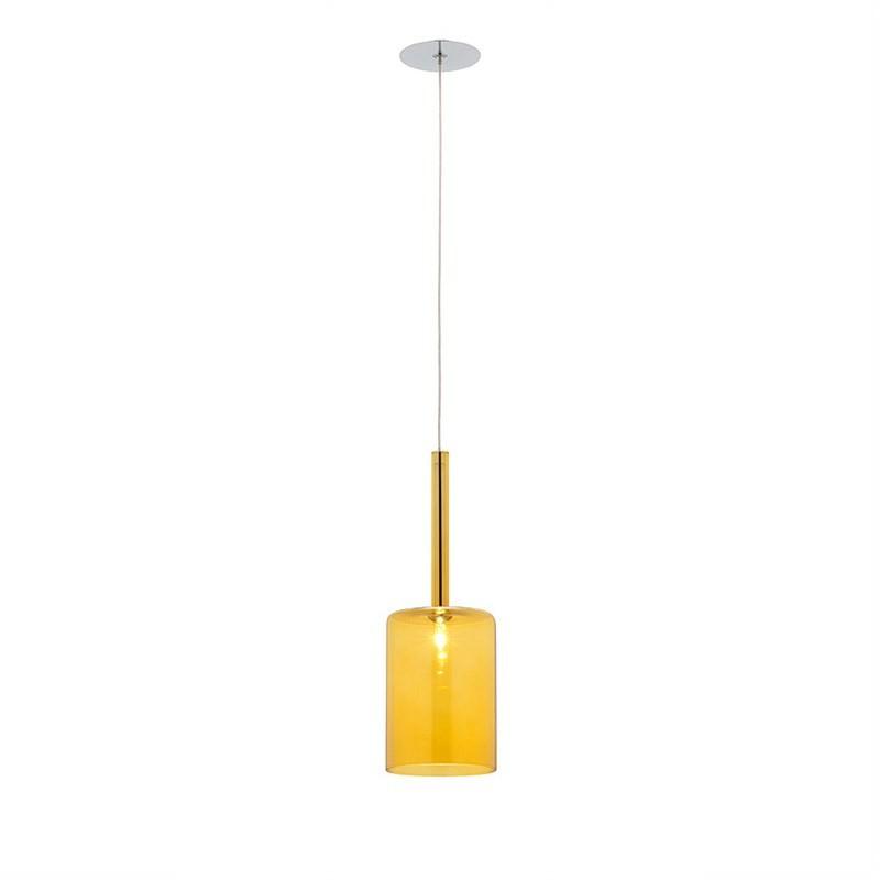 Torino 1 Light Pendant - Medium - Amber