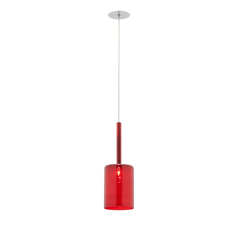 Torino 1 Light Pendant - Medium - Red