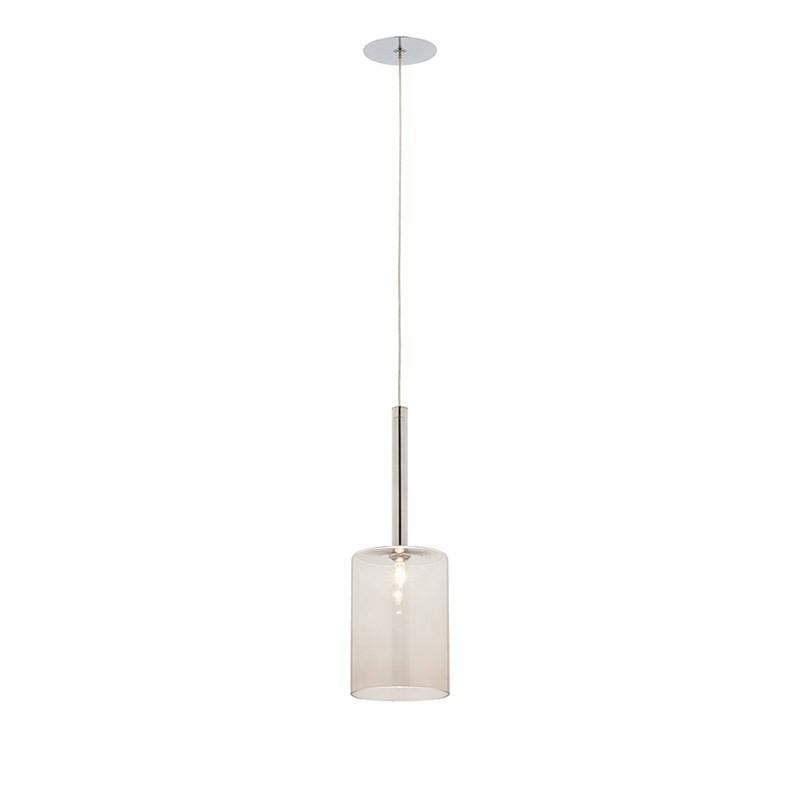 Torino 1 Light Pendant - Medium - Smoke