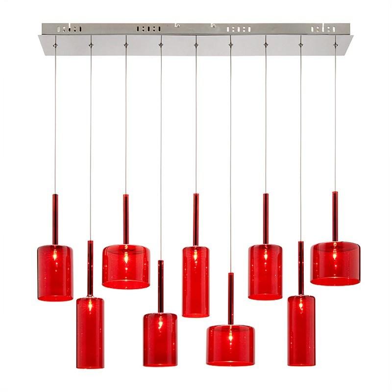 Torino 9 Light Bar Pendant - Red