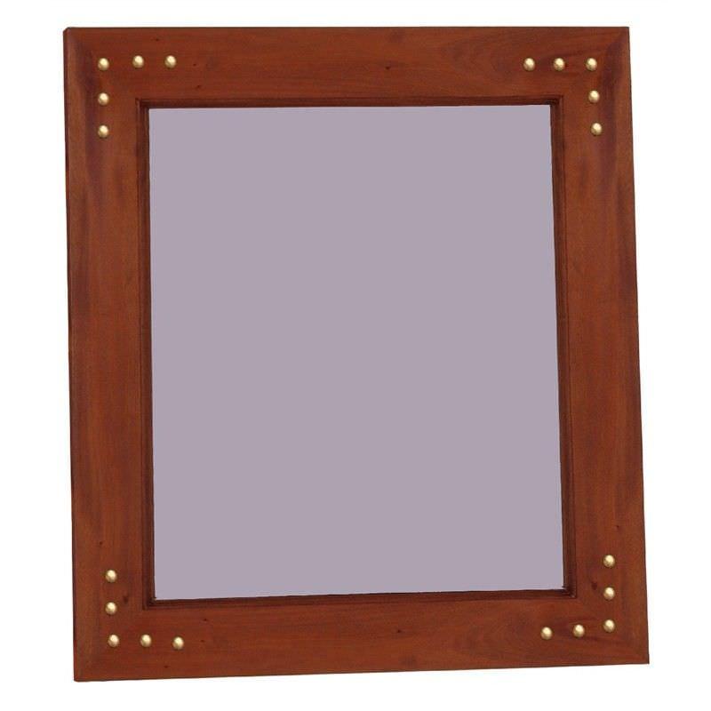 Labobo Solid Mahogany Timber Frame 120cm Wall Mirror - Mahogany