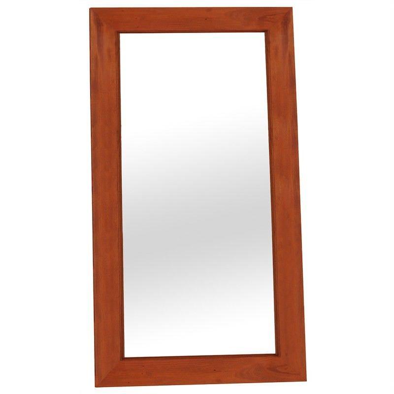 Hadley Solid Mahogany Timber Floor Mirror - Light Pecan
