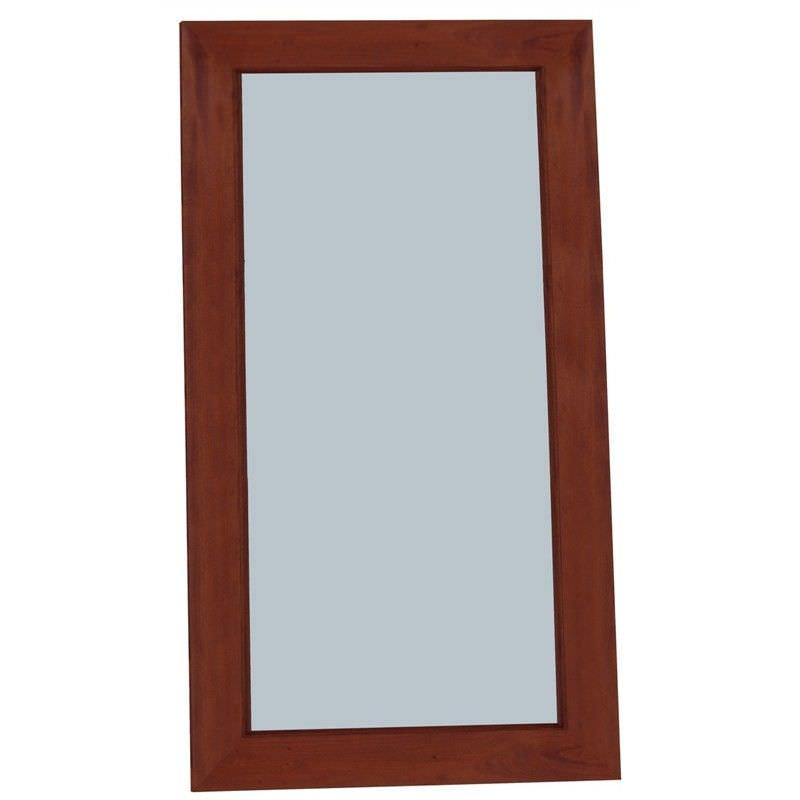 Hadley Solid Mahogany Timber Floor Mirror - Mahogany