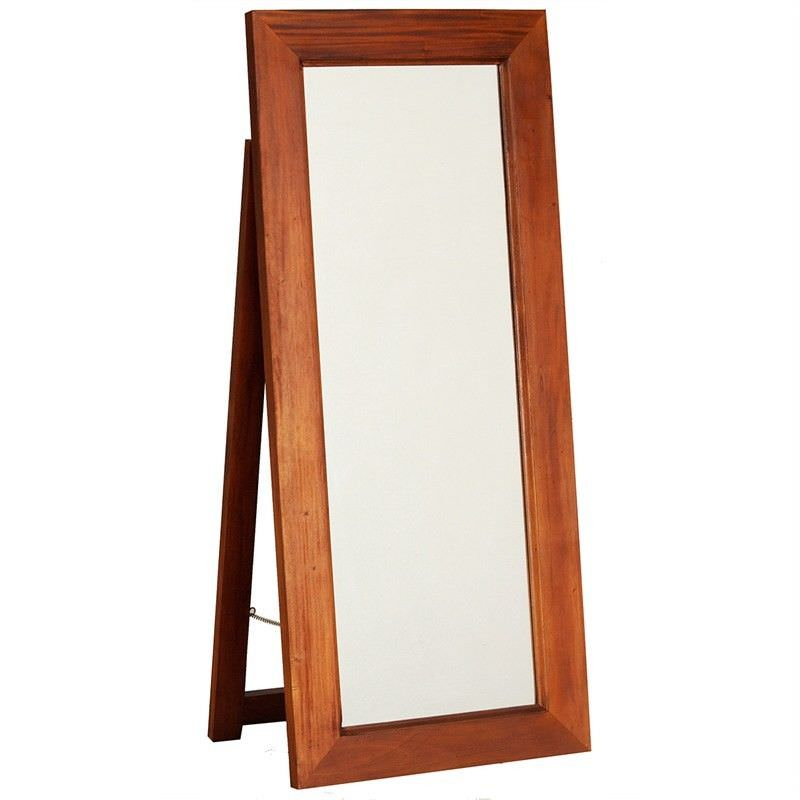 Hadley Solid Mahogany Timber Free Stand Dressing Mirror - Light Pecan