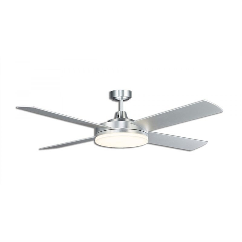 Martec Razor 4 Plywood Blade Fan (MRF1345B) with Dimmable 5000k LED Light in Brushed Aluminium Finish