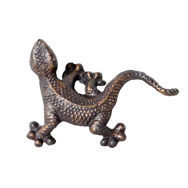 Type 3 Cast Iron Gecko Figurine Garden Decor