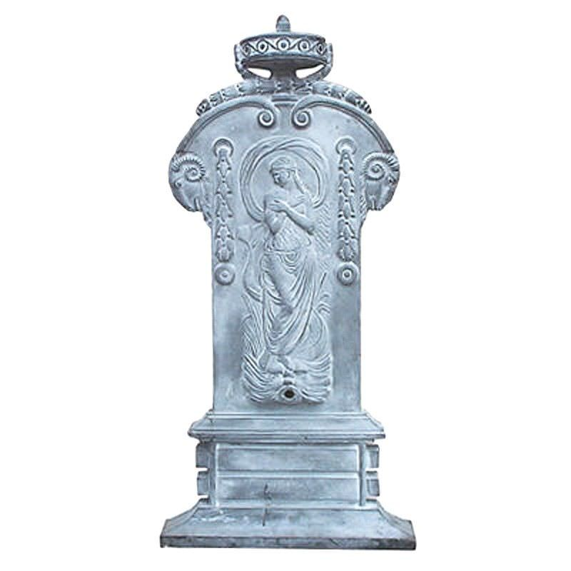 Water Cast Iron Maiden Fountain - Grey