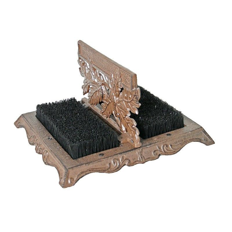 Javien Cast Iron Double Side Shoe Scraper, Antique Rust