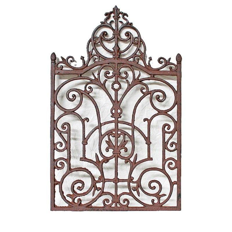 Harlow Cast Iron Wall Decor - Antique Rust