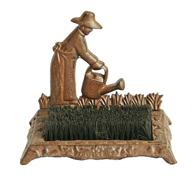 Irrigation Cast Iron Shoe Scrape - Antique Rust
