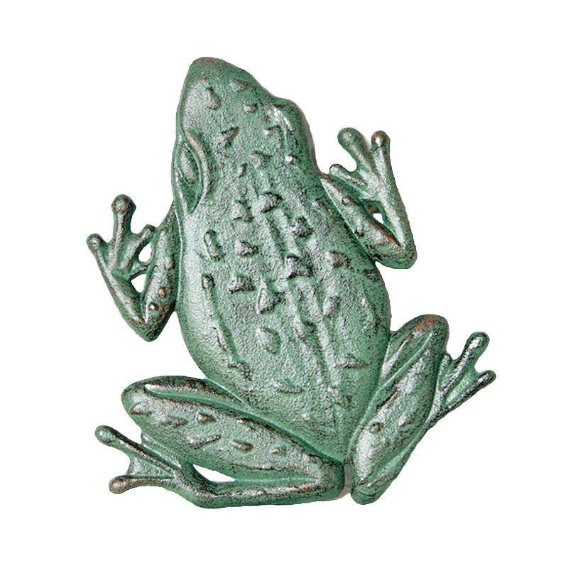 Frog Cast Iron Stepping Frog - Verdigris