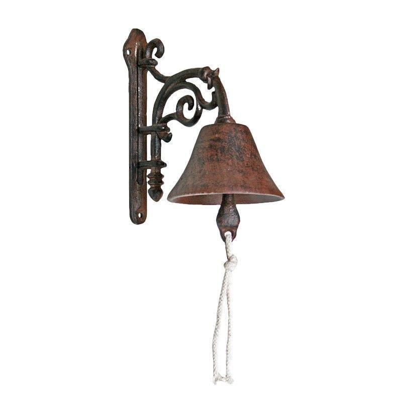 Formal Cast Iron Door Bell Antique Rust