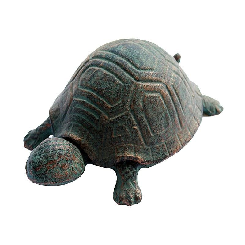 Turtle Large Cast Iron Key Hider - Antique Rust